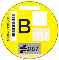 pegatinas dgt - etiqueta B