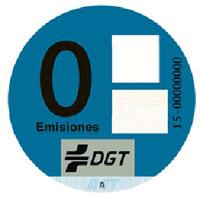 pegatinas dgt - etiqueta Cero emisiones