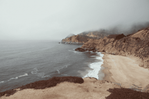 ruta motera costa oeste Estados Unidos playa