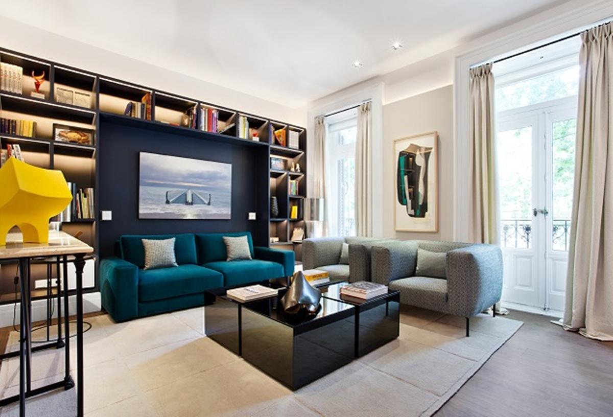 Vivienda domótica e interiorismo en una casa inteligente