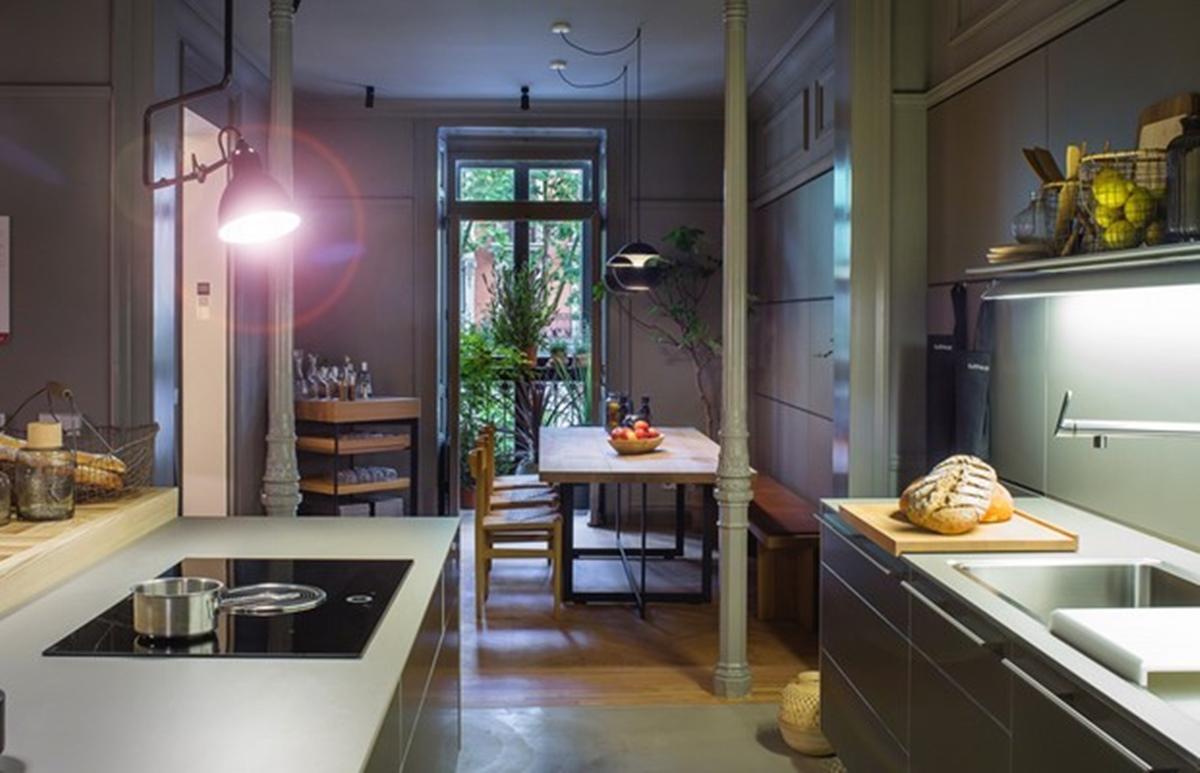 cocina domótica en una casa inteligente