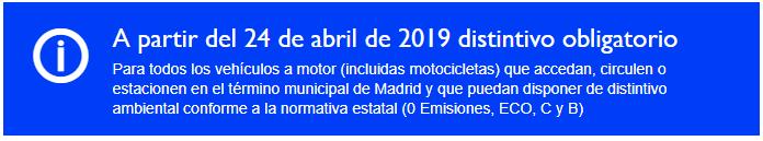 Pegatinas DGT, nueva normativa fecha límite 24 abril 2019