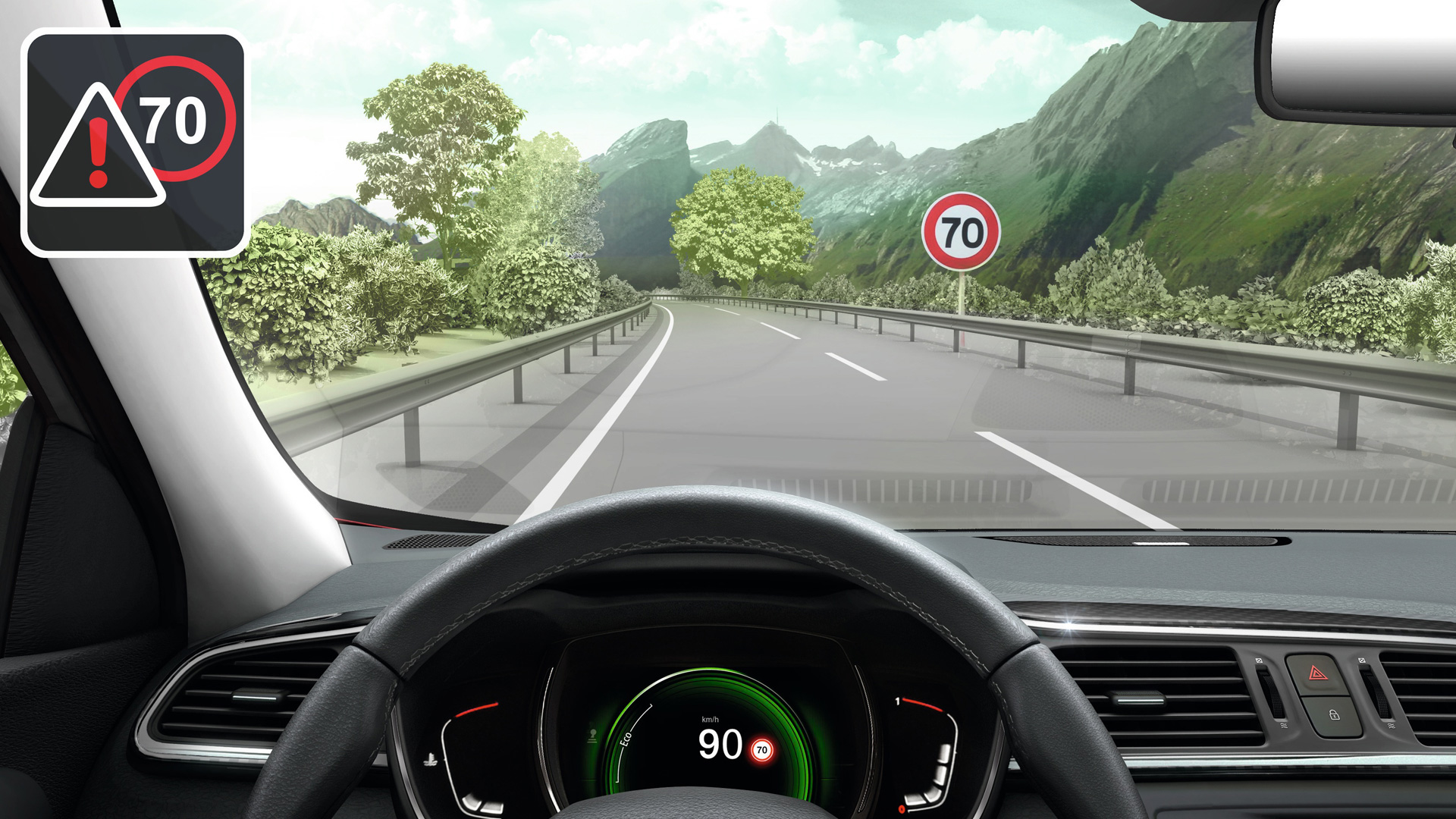 Sistema de control de velocidad inteligente: regulador de velocidad adaptativo ISA
