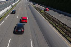 coches escapando el tráfico con velocidad en carretera